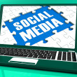 Social MediOn Laptop Shows Online Relation — Stock Photo #32851509