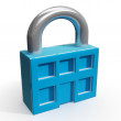 Padlock And House Shows Building Security — Stock Photo #32851525