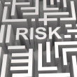 Stock Photo: Risky Maze Shows Dangerous Or Risk