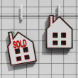 Stock Photo: Sold House Means Sale Of Real Estate