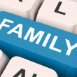 Family Key Means Blood Relation Or Relative — Stock Photo