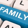 Family Key Means Blood Relation Or Relative — Stock Photo #32851791