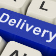 Delivery Key Means Distribution Or Transmissio — Stock fotografie