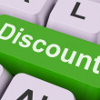 Discount Key Means Cut Price Or Reduc — Stock Photo #32851901