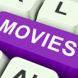 Movies Key Means Films Or Movi — Stock Photo