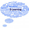 Stock Photo: Elearning Word Shows Web Learning Or Internet Studying