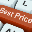 Best Price Key Shows Discount Or Offer — Stock Photo