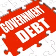 Government Debt Puzzle Shows Nation Penniless And Bankrupt — Photo