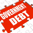 Government Debt Puzzle Shows Nation Penniless And Bankrupt — Stock Photo