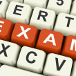 Exam Keys Show Examination Exams Or Test Online — Stock Photo