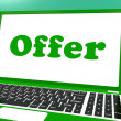 Stock Photo: Offer Computer Shows Promotion Discounts And Reduction