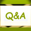 Q&a On Screen Shows Info Questions And Answers Online — Stock Photo