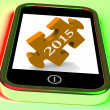 2015 On Smartphone Shows Future Plans For New Year — 图库照片