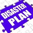 Disaster Plan Puzzle Shows Danger Emergency Crisis Protection — Stock Photo