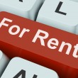 For Rent Key Means Lease Or Renta — Stock Photo #32852429