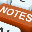 Notes Key Shows Information Reminders Or Info — Stock Photo