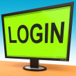 Login Screen Shows Website Internet Log In Security — Stock Photo #32852469