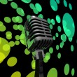Mic And Lights Shows Microphone Concert Entertainment Or Music S — Stock Photo