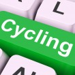 Stock Photo: Cycling Key Means Bicycling Or Motorcyclin