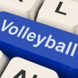 Stock Photo: Volleyball Key Showing Volley Ball Game Online