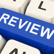 Review Key Means Revaluate Or Reassess — Stock Photo