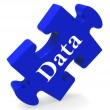 Data Puzzle Shows Digital Info Computing And Archive — Stock Photo