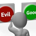 maus boas botões mostram moral ou travessuras — Foto Stock