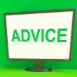 Stock Photo: Advice Screen Means Guidance Advise Recommend Or Suggest