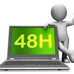 quarante huit heures portable personnage montre service 48h ou livraison — Photo