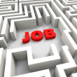 Job In Maze Showing Finding Jobs — Stock Photo