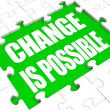 Change Is Possible Puzzle Shows Possibility Of Changing — Stock Photo #32853497
