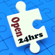 Open 24 Hours Puzzle Shows All Day 24hr Service — Stock fotografie
