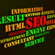 Stock Photo: Seo Words Show Websites Search Engine Optimization Or Optimizing
