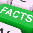 Facts Key Shows True Information And Data — Stock Photo