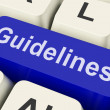 Stock Photo: Guidelines Key Shows Guidance Rules Or Policy