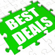 Stock Photo: Best Deals Puzzle Shows Great Deal Promotion Or Bargain