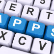 Apps Keys Shows Web Application Or Applications — Stockfoto