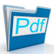 Pdf File Shows Documents Format Or Files — Foto Stock