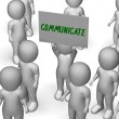 Communicate Sign Shows Speaker Or Discussion — Stock Photo