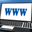 Stock Photo: Www On Laptop Shows Websites Internet Web Or Net