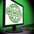 Members Computer Shows Membership Registration And Internet Subs — Stock Photo