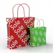 Sale Shopping Bags Showing Reductions — Stock Photo