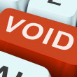 Stock Photo: Void Key Shows Invalid Or Invalidated Contract