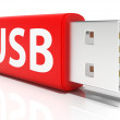 Usb Flash Drive Shows Portable Storage or Memory — Stock Photo #32854233