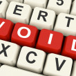 Stock Photo: Void Keys Show Invalid Or Invalidated Online
