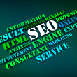 Seo Words Show Search Engine Optimization Or Optimizing Online — Stock Photo #32854311