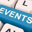 Stock Photo: Events Key Means Occasion Or Inciden