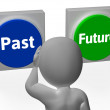 Past Future Buttons Show Progress Or Time — Stock Photo