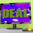 Stock Photo: Deal Monitor Shows Trade Contract Or Dealin