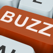 Buzz Key Shows Awareness Exposure And Publicity — Stock Photo #32854417
